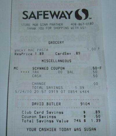 day 24 safeway receipt