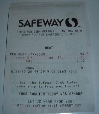 day 26 chicken receipt