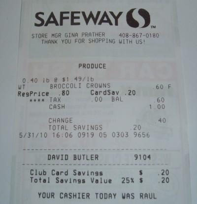 day 31 safeway receipt
