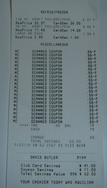 egg receipt