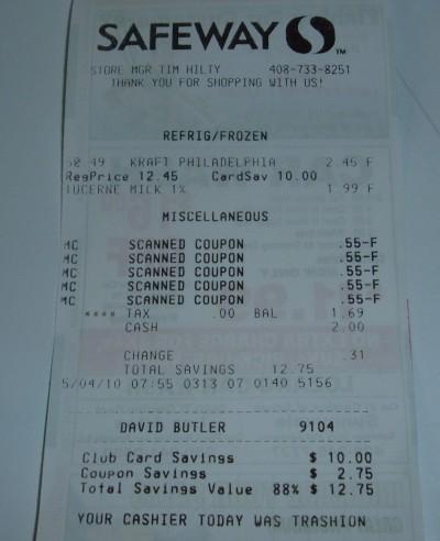 milk receipt