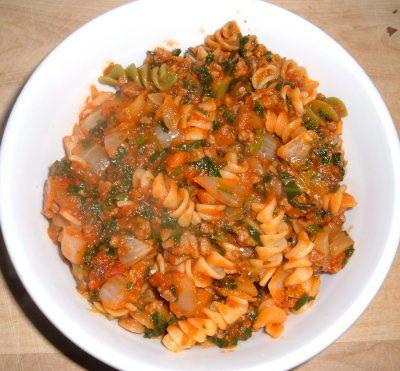 beef pasta dinner