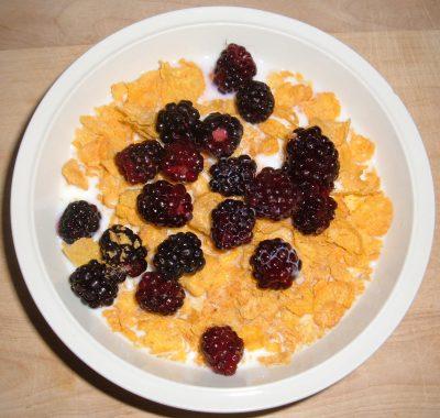 blackberry Corn Flakes