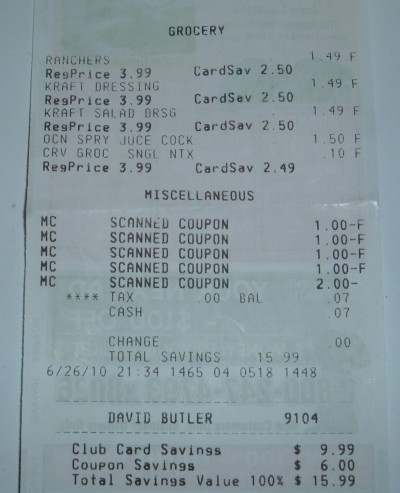 free blueberry juice receipt