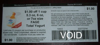 Fage yogurt coupon