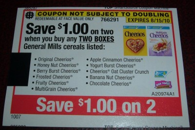 cheerios blinkie coupon