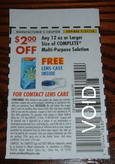 contact lense coupon