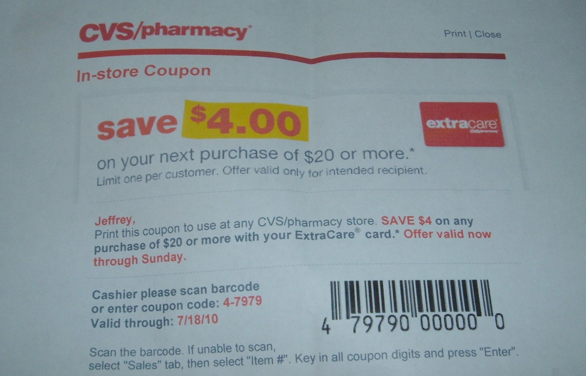 cvs photo coupon code april 2018