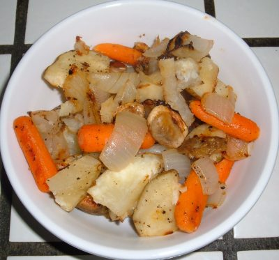 roasted veggies lunch