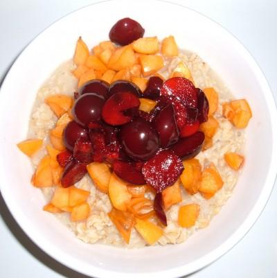loquat cherry plum oatmeal