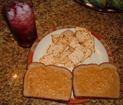 double peanut butter sandwich
