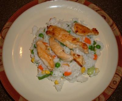 chicken veggie rice
