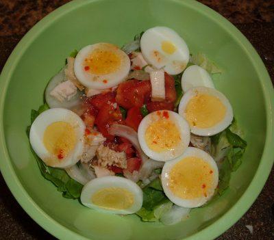 dinner salad egg