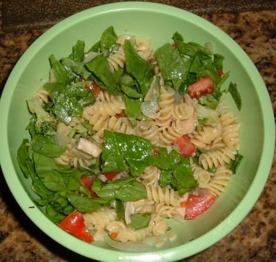 chicken spinach pasta salad