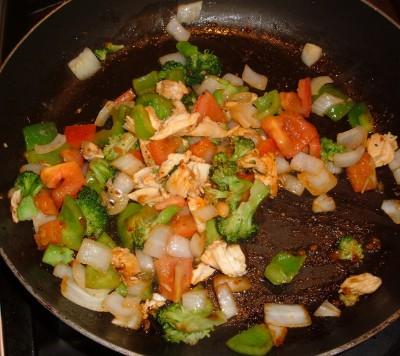 veggies with chicken