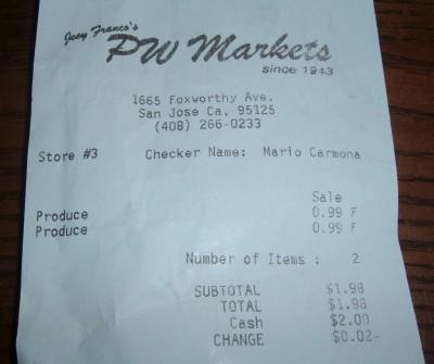 pw receipt