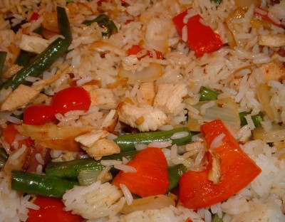 veggie and chicken rice medley