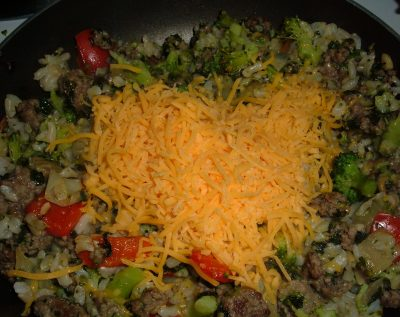 beef rice cheese