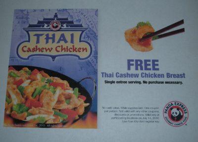 free Thai cashew chicken