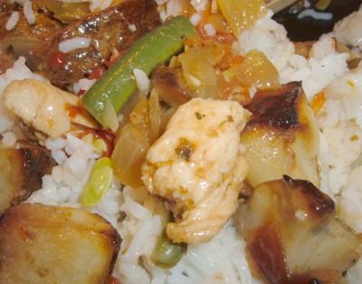 potato rice veggie mix