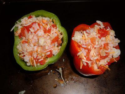 stuffed peppers prep