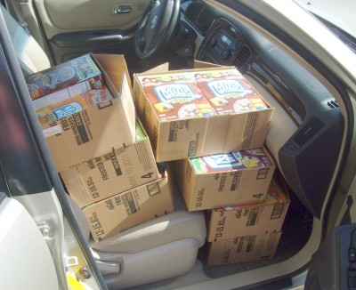 food bank delivery front seat