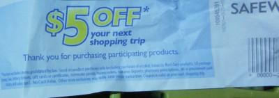 $5 off catalina coupon