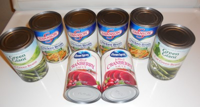 chicken broth cranberry sauce green beans