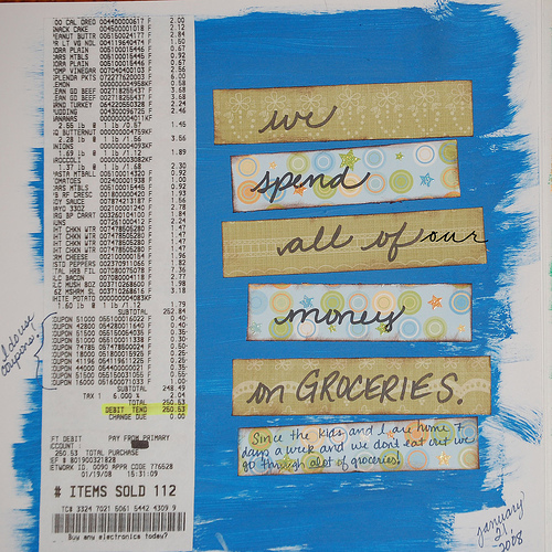 grocery journal entry