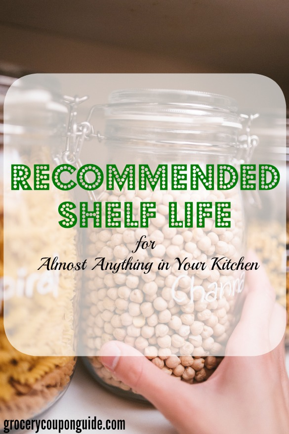 shelf life of pantry staples, pantry staples tips, recommended shelf life
