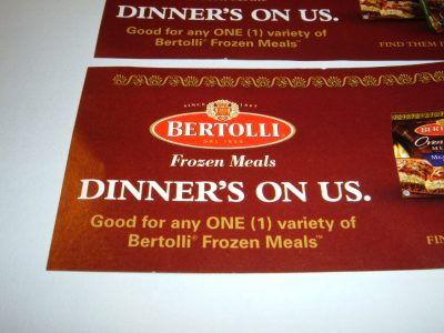 Free Bertolli Frozen Meal coupon