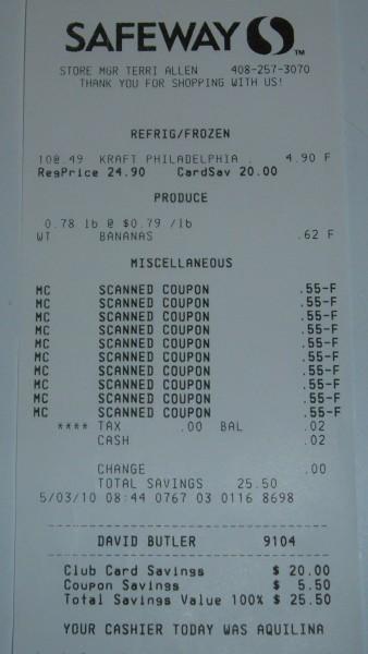 banana receipt
