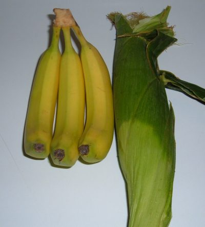 bananas and corn