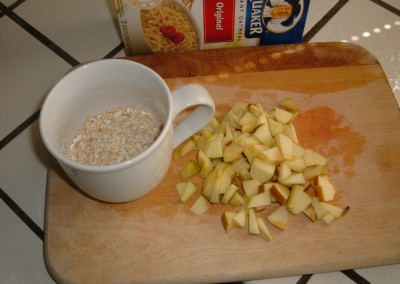breakfast chopped apple