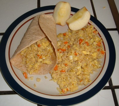 breakfast plated