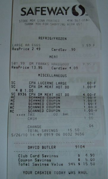 day 26 hot dog receipt