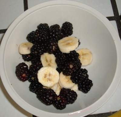 blackberries and bananas day 38