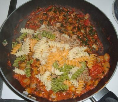 Beefy Pasta Florentine mix