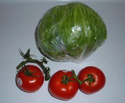 lettuce and tomatoes