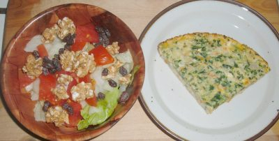 salad and quiche