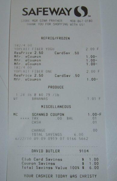 day 53 safeway receipt