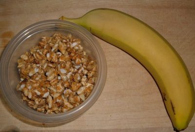 banana and granola