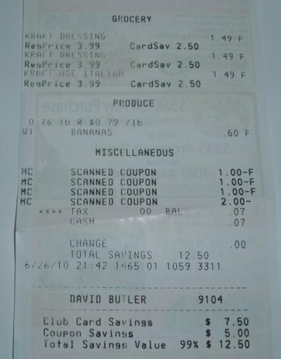 free banana receipt