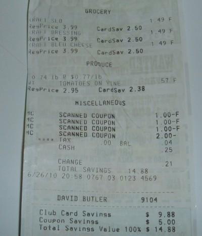 free tomatoes receipt