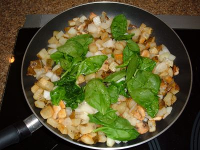 potato onion spinach
