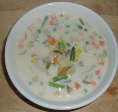 potato veggie chowder soup