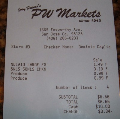 pw markets receipt