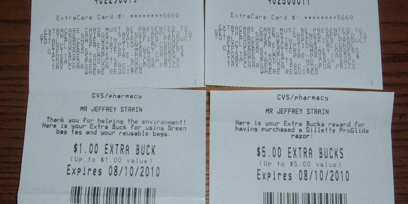 Step By Step Cvs Extra Bucks Moneymaker Example Eating Well On 1 A Day Grocery Coupon Guide