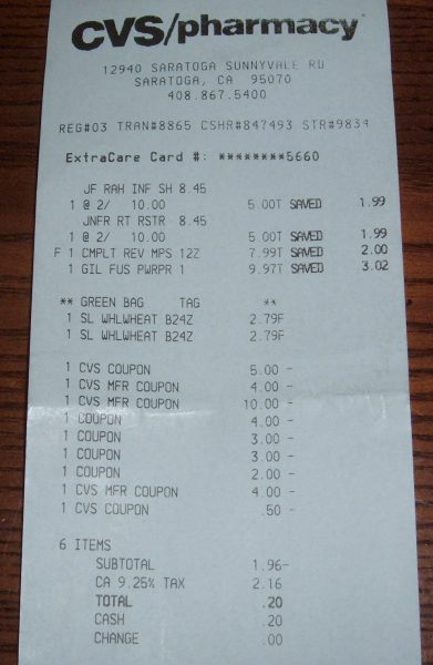 step by step cvs extra bucks moneymaker example  eating
