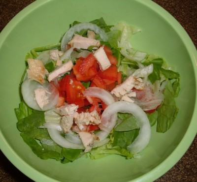 dinner salad chicken